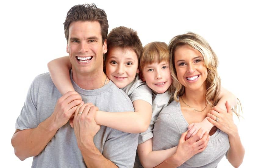 Family With Healthy Teeth